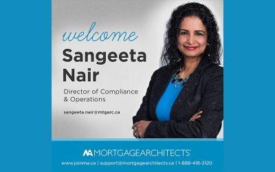 Les AH accueillent Sangeeta Nair – directrice, Conformité et opérations